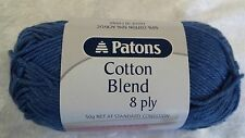 Patons Cotton Blend 8 Ply #21 Denim Cotton / Acrylic 50g