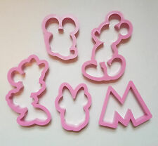 Mickey Minnie Mouse Cookie Cutter Fondant Biscuit Plastic Baking Mold Set