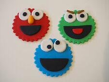 12 Sesame Street OSCAR elmo COOKIE MONSTER cupcake topper EDIBLE CAKE DECORATION