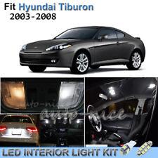For 2003-2008 Hyundai Tiburon Luxury White Interior LED Lights Kit 8 Pieces