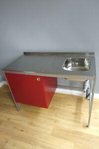 IKEA UDDEN Küchenschrank Spüle Spülenschrank Edelstahl rot (H3)