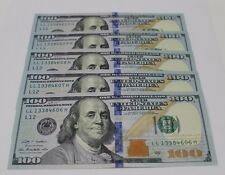 5 New Uncirculated Hundred Dollar Bills Five $100 Notes  2009