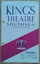 Cinderella programme Southsea Kings Theatre 1946 Ann Dummond-Grant Olga May