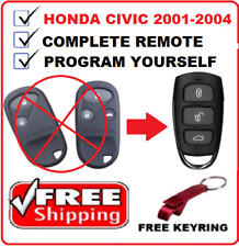 Honda Civic Remote Control Fob Keyless Entry 2001 2002 2003 2004 Program yoursel