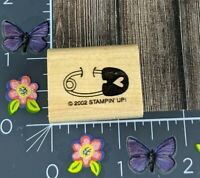 Stampin Up Rubber Stamp Diaper Pin Heart 2002 Baby Shower Announcement #D29