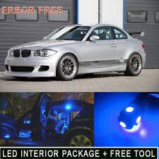 8PCS 10K Blue LED Light Interior Package Kit For 2008- 2013 BMW 128i E82 E85 PQ