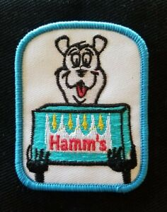 VINTAGE HAMM'S BEER PATCH ADVERTISING NOS SEW ON COLLECTORS Patch
