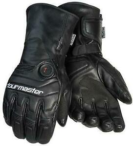 Tourmaster Synergy 7.4v Heated Leather Gloves Motorcycle Street Bike
