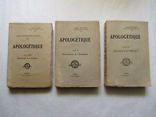 APOLOGÉTIQUE, par DUPLESSIS, 3 TOMES/ 3, 1924