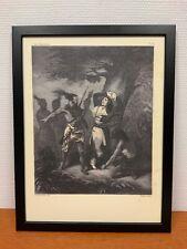 Framed engraving 30x40 cm Freemason Vrijmetselarij Noodteken