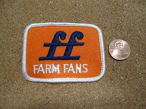 Vintage Farm Fans (Orange) Patch New Old Stock