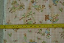 """By-the-Half-Yard, 44"""", Children's Play on Pink Quilter's Cotton Northcott M6522"""
