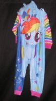 Girls My Little Pony Pajamas Rainbow Dash Hooded Costume Non Footed Union Suit