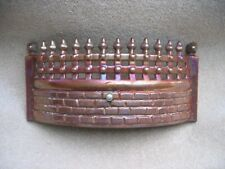 Cast Iron Enameled Lustre Fire Grate Fender Coal Fret Ash Pan Cover Vintage