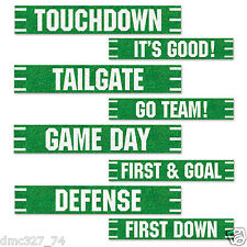 4 football superbowl tailgate party street sign cutouts decorations 4x24 - Football Decorations