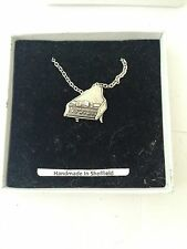 "Piano PP-M12 Emblem Silver Platinum Plated Necklace 18"""