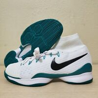 Nike Air Zoom UltraFly HC Tennis Shoes White Black Green Size 11.5 (819692-103)