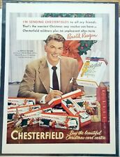 Ronald Reagan advertising Chesterfield Cigarettes.