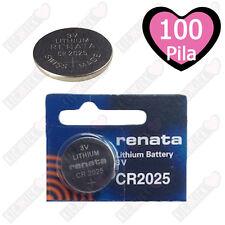 Renata Batteria CR2025 Litio 3V Pulsante Batteria Cr 2025 Pile A Bottone X100