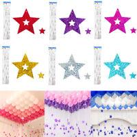 100Pcs Shiny Star Balloon Decor Light Weight Pendant Ribbon For Party Balloons