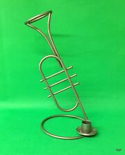 Candle Holder Trumpet 11 13/16in Large Forged Metal Lights Cheap