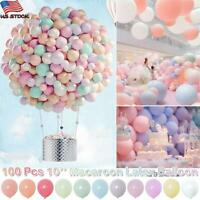 100Pcs 10'' Macaroon Candy Latex Balloon Birthday Party Baby Shower DIY Decor US