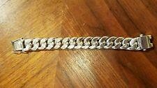 """219 Gram HEAVY CUBAN CURB LINK 100% STERLING SILVER 21 MM MEN'S BRACELET 8 1/2"""""""