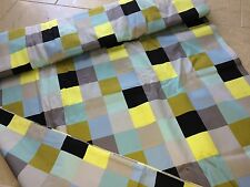 Marimekko Square light satin for dresses and skirts, one meter, from Finland