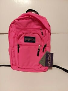 "Jansport ""Big Student"" Backpack School Book Bag Solid Pink Authentic BRAND NEW"