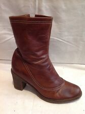 Nine West Brown Ankle Leather Boots Size 38