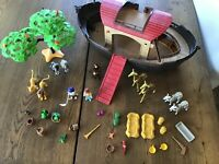 LOT OF PLAYMOBIL NOAHS ARK PLAYSET W/ FIGURES ANIMALS + MORE