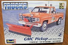 REVELL GMC PICKUP TRUCK with SNOW PLOW MODEL KIT 1/24 SCALE