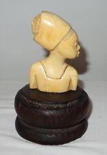 DEALER-RITA  Antique sculture original hand carved noble material african tribal