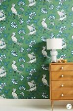 NEW Anthropologie Green Egrets Wallpaper Roll