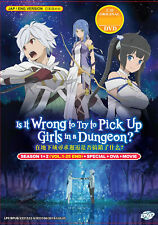 Is It Wrong To Try To Pick Up Girls In A Dungeon? (Season 1+2) English Dubbed