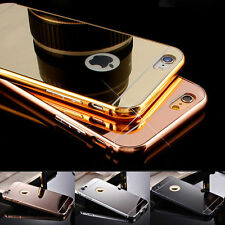 Aluminum Metal Mirror Hard Case PC Back Cover Skin For iPhone 5 5s 6 6s 7 Plus