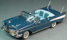 DANBURY MINT 1957 CHEVROLET BELAIR CONVERTIBLE 1/24 BLUE DM313 MINT