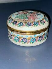 Glass House Studio Angel Covered Box, Enamelware by Steinbach, Made in Austria