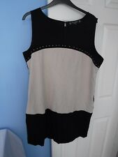 PRINCIPLES WOMAN'S BLACK AND CREAM DRESS SIZE UK 20 EUR 48