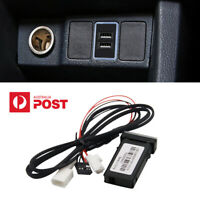 For Toyota QC 3.0 Phone Fast Charger Double USB Plug & Play Cable Adapter 12V