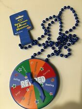 Fun Party Beads with Retirement Spinner Medallion Necklace Nwt