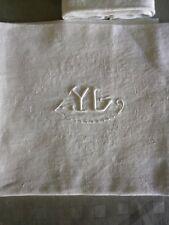 6 anciennes serviettes de lin monogrammées