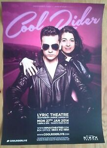 "12x16.5"" Cool Rider poster Lyric Theatre 27th Jan 2014 Ashleigh Gray"