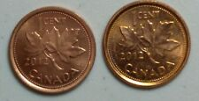 2012 Steel & 2012 Zinc Canada 1 Cent Penny Last Year of Penny
