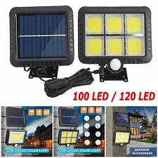 120 LED Solar Power Motion Sensor Light Outdoor Security Garden Yard Wall Lamp