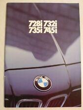 Prospekt BMW 7er E 23 - 728i, 732i, 735i, 745i - 1.1981, 56 Seiten