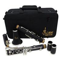 Clarinetto professionale nero a 17 tasti con astuccio e astuccio