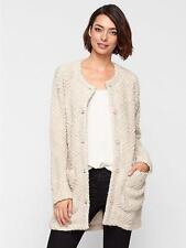 BNWT $498 Eileen Fisher Chevron Wool Boucle MAPLE OAT Long Jacket Coat XL