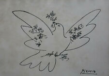 Fine rare Cubist painting – dove, signed Pablo Picasso and marked on verso