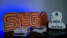 SEGA Retro Wood Carved Arcade Sign Genesis Dreamcast Game Room Man Cave CUSTOM